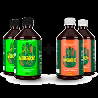 Kit Mix 2 Moderação Tradicional + 2 Moderação Limão